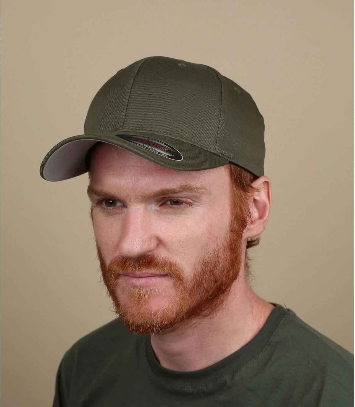 olive-green curve cap