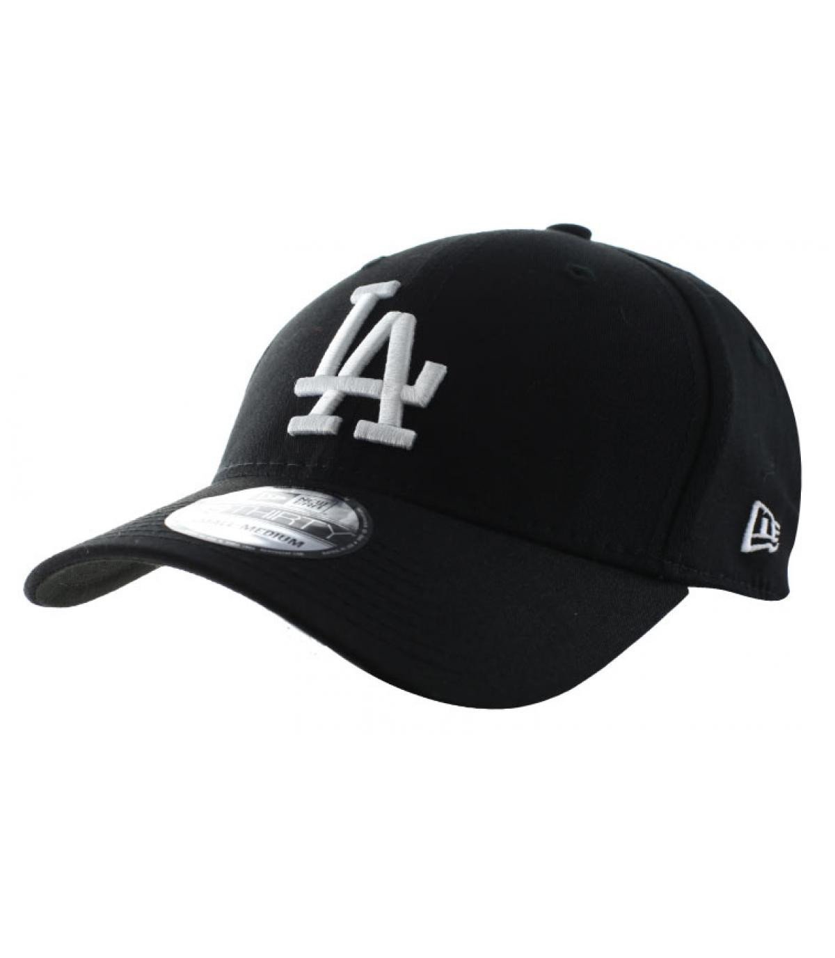 Black curved visor LA cap