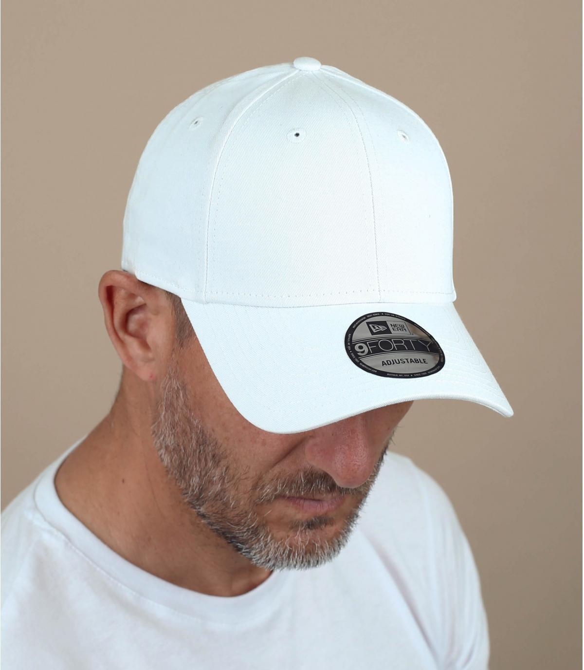White curve cap