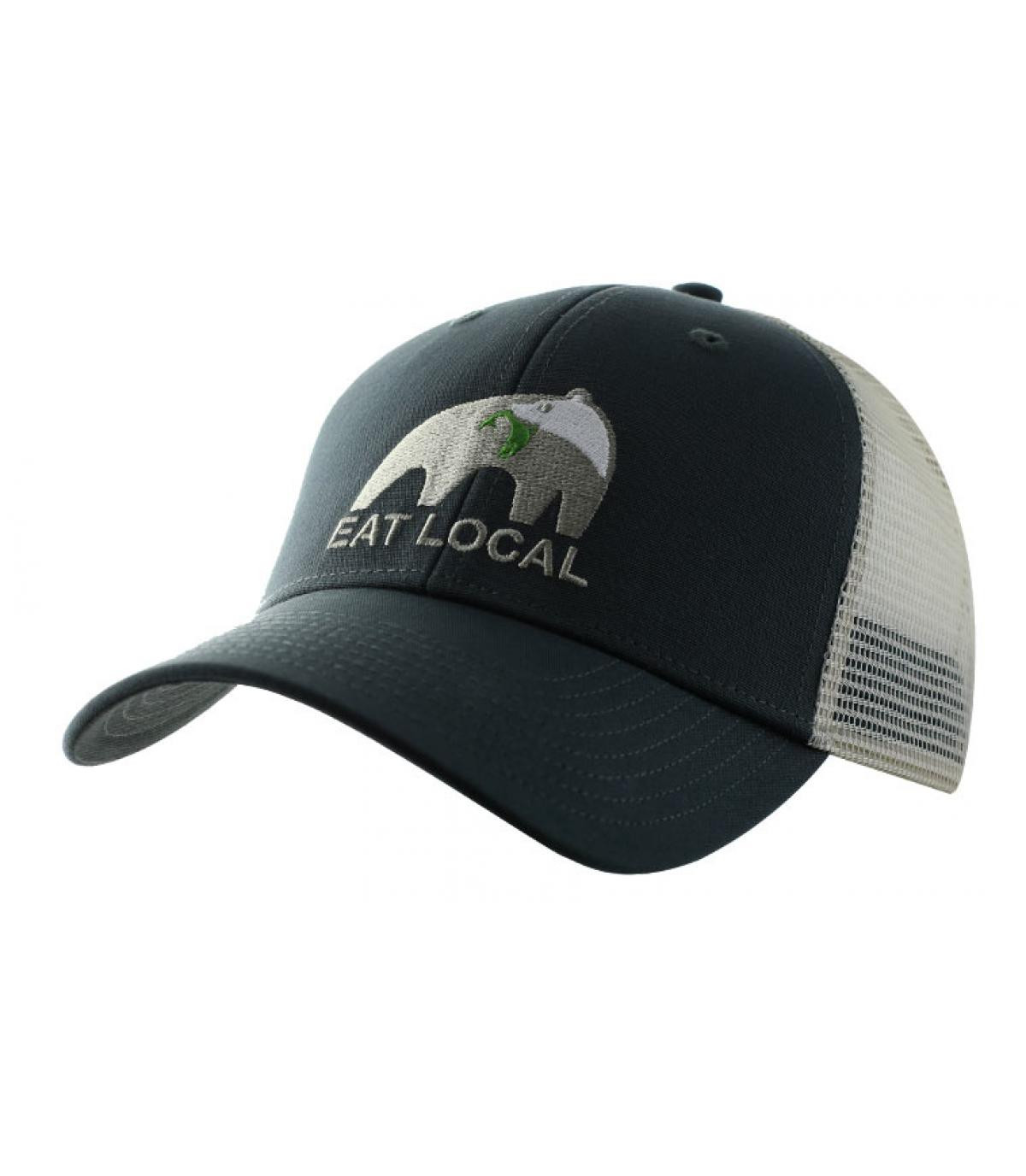 55e4fc98b Patagonia Eat Local cap - Eat Local Trucker forge grey by Patagonia ...