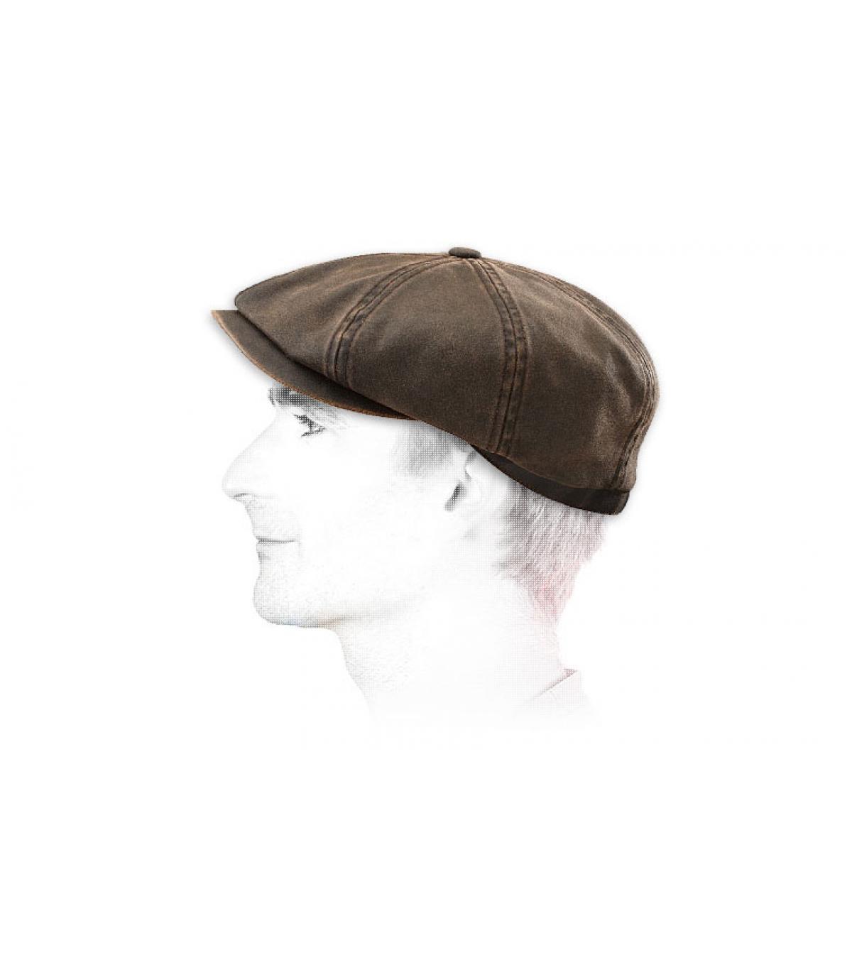 Brown stetson hatteras