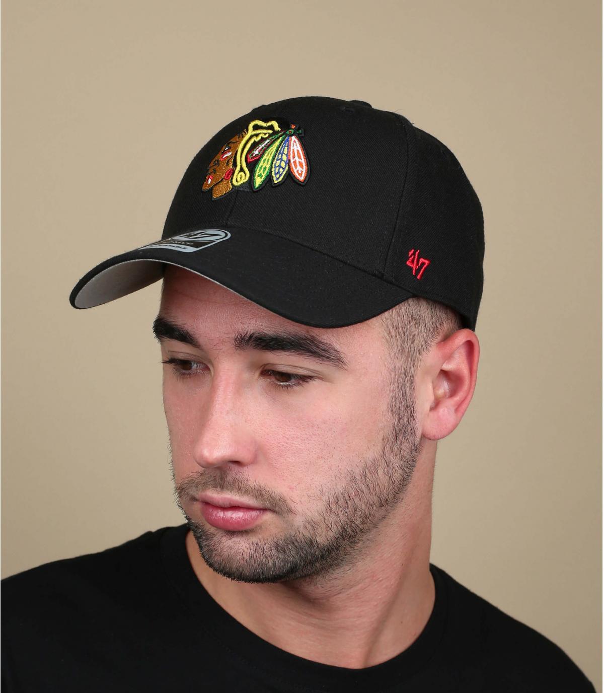 black Blackhawks cap