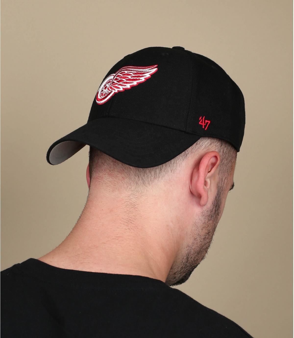 black Detroit cap