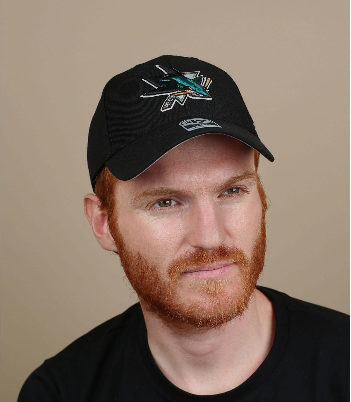 Black San Jose Sharks cap