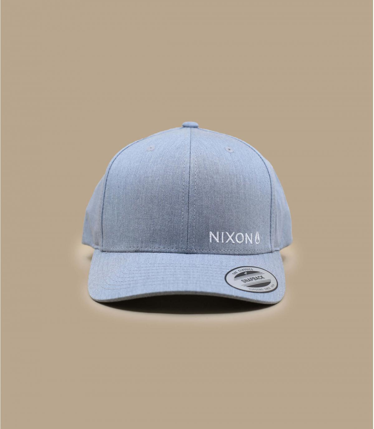 Nixon heather grey snapback - Lockup heather grey by Nixon. Headict 48418d4b4bba