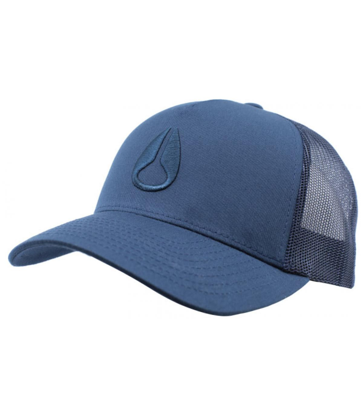95432a553ad Nixon navy curved trucker - Iconed all navy by Nixon. Headict