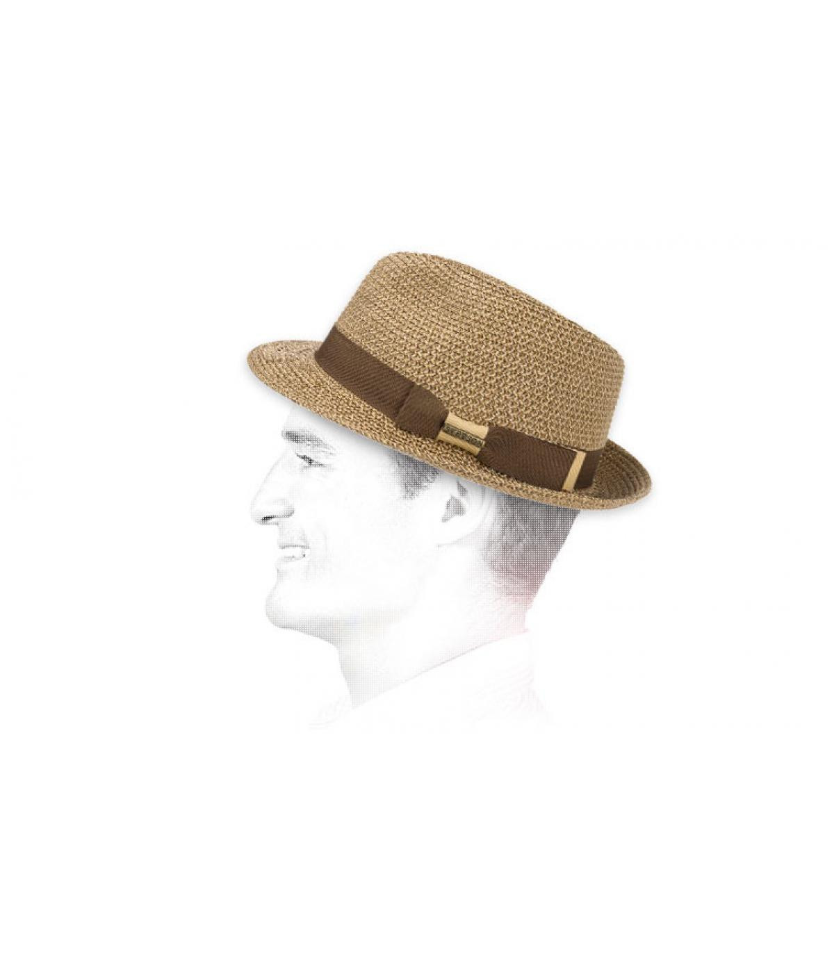 Stetson two coloured braided trilby