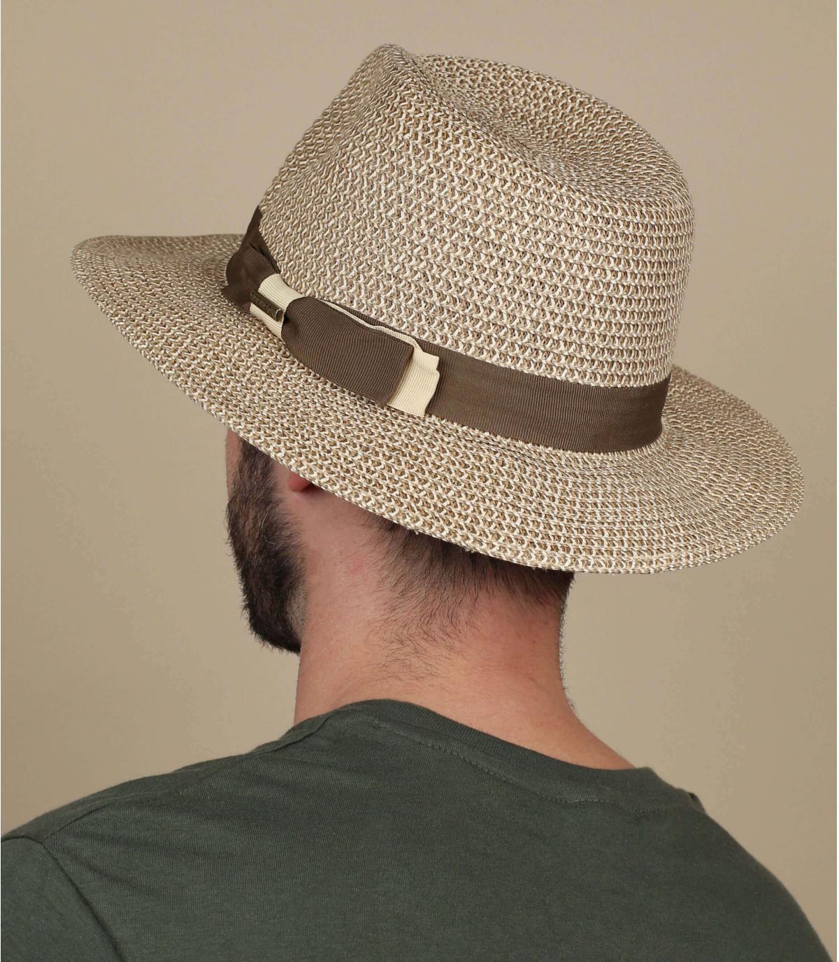 straw hat wide brim stripe