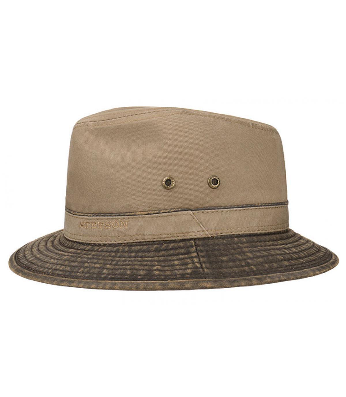 grey cotton travel hat