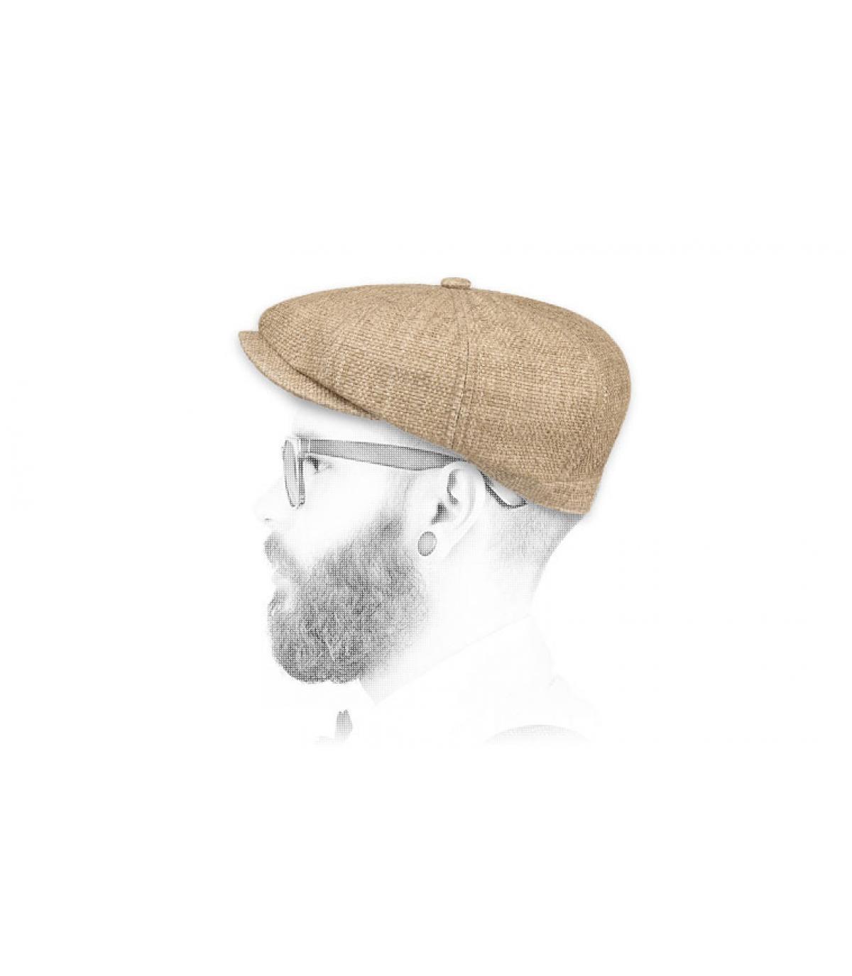 Stetson straw newsboy cap
