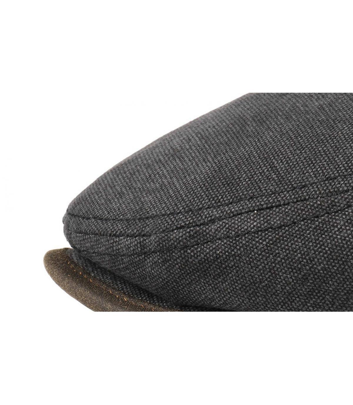 Stetson. black cotton flat cap. Détails Driver cap canvas black - image 3  ... a8d4296ca242