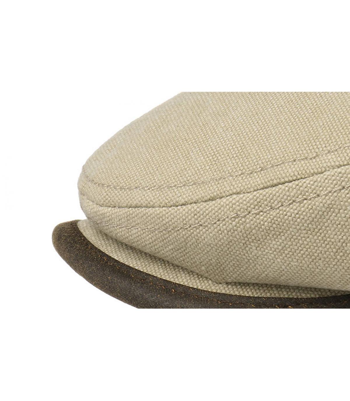 Stetson. beige cotton flat cap. Détails Driver cap canvas beige - image 3  ... 14e2af343531
