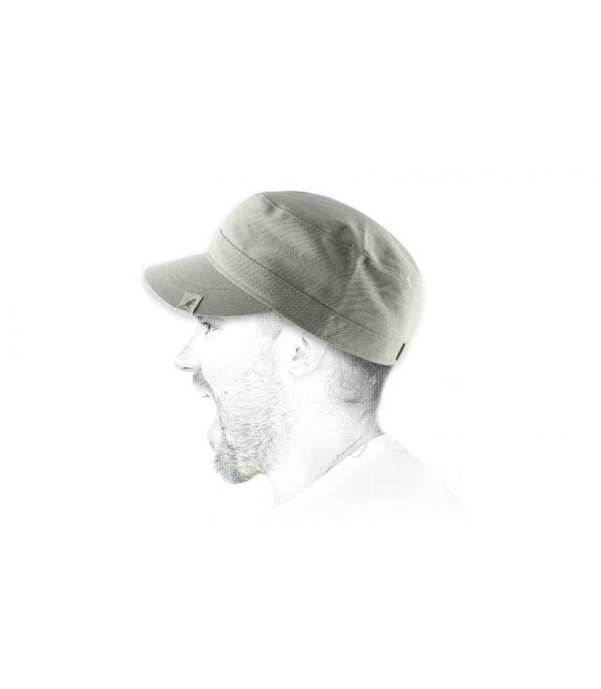 Kangol beige army cap