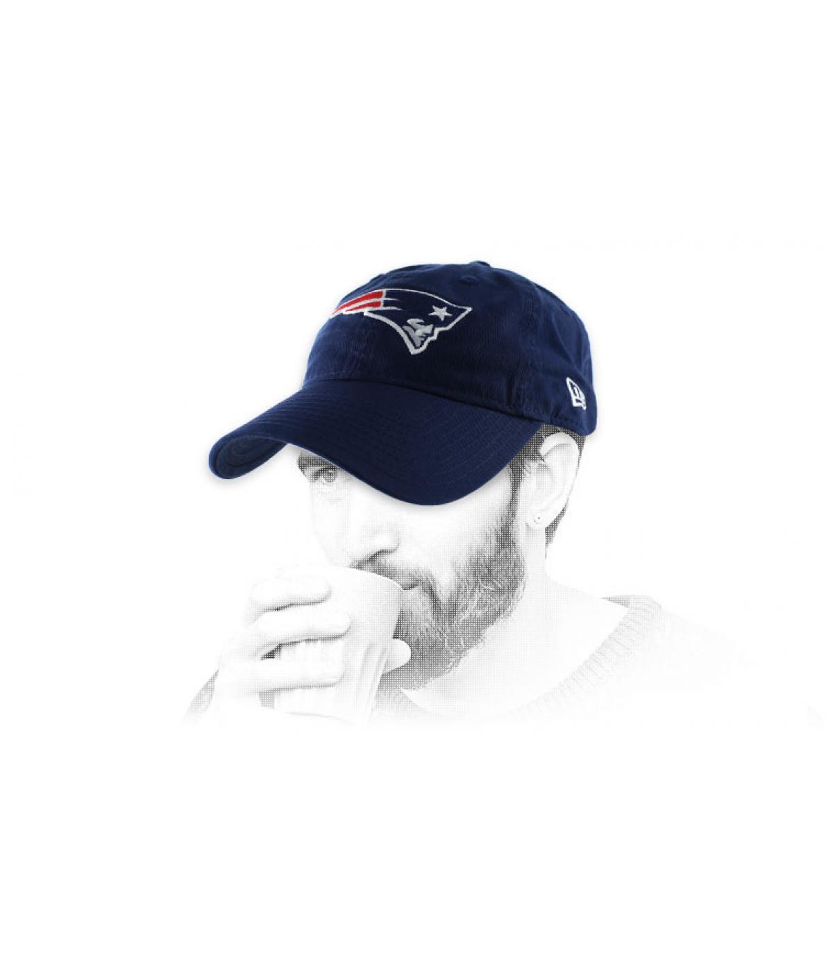 blue Patriots curve cap