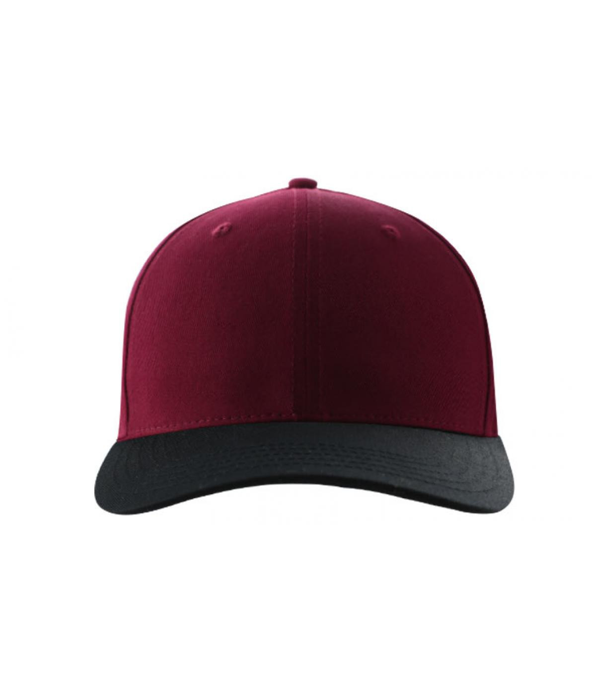 Curve blank burgundy black