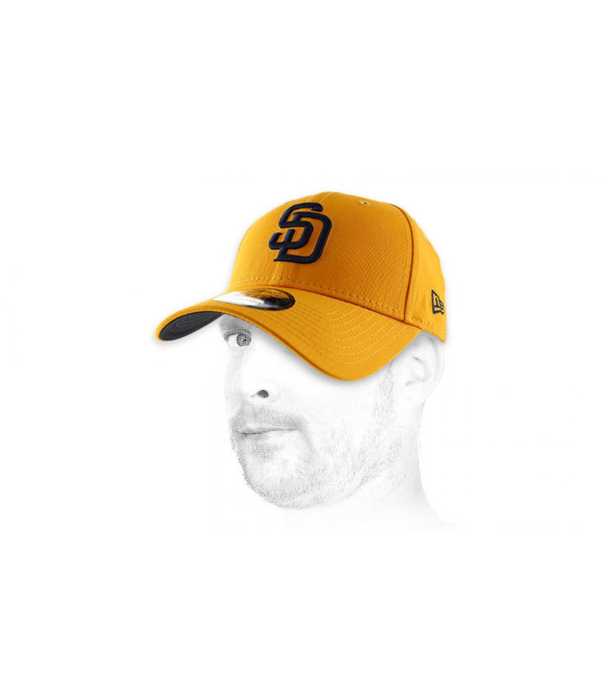 yellow SD curve cap