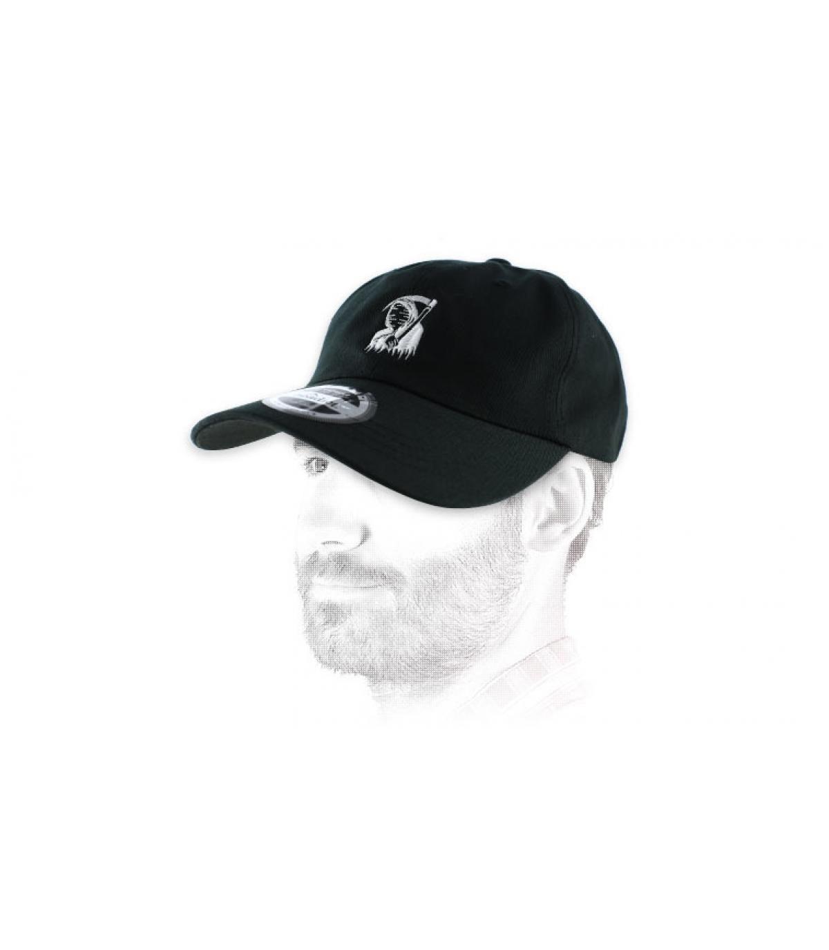 death black curve cap