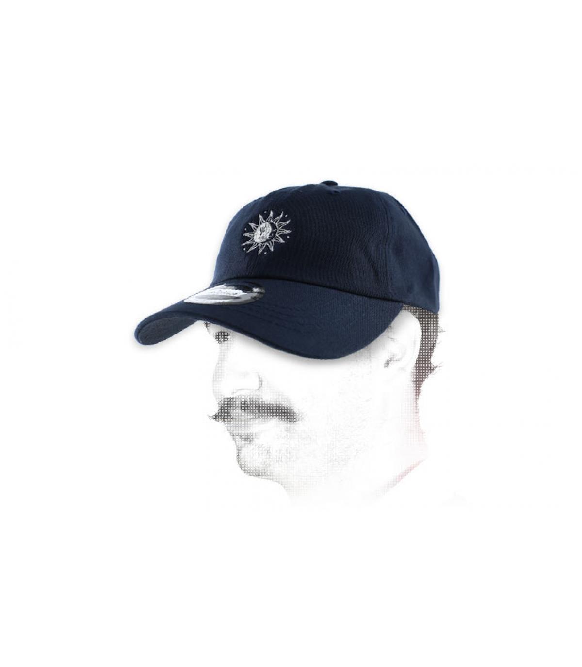 blue sun moon cap