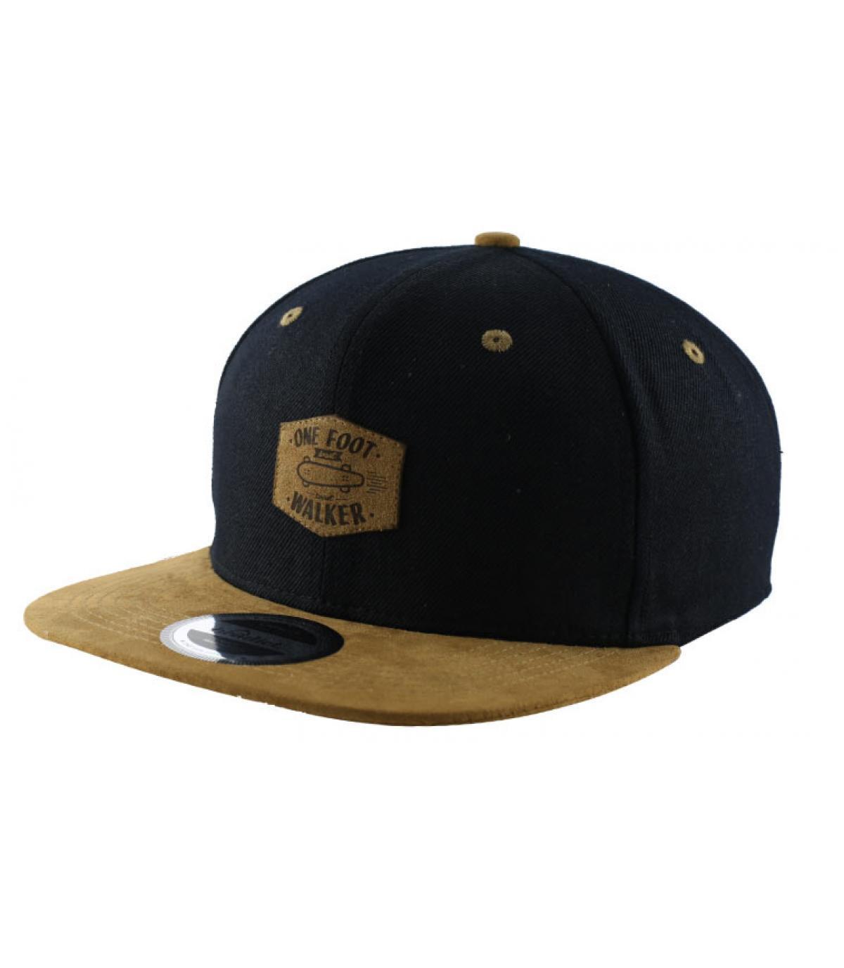 brown black skate snapback