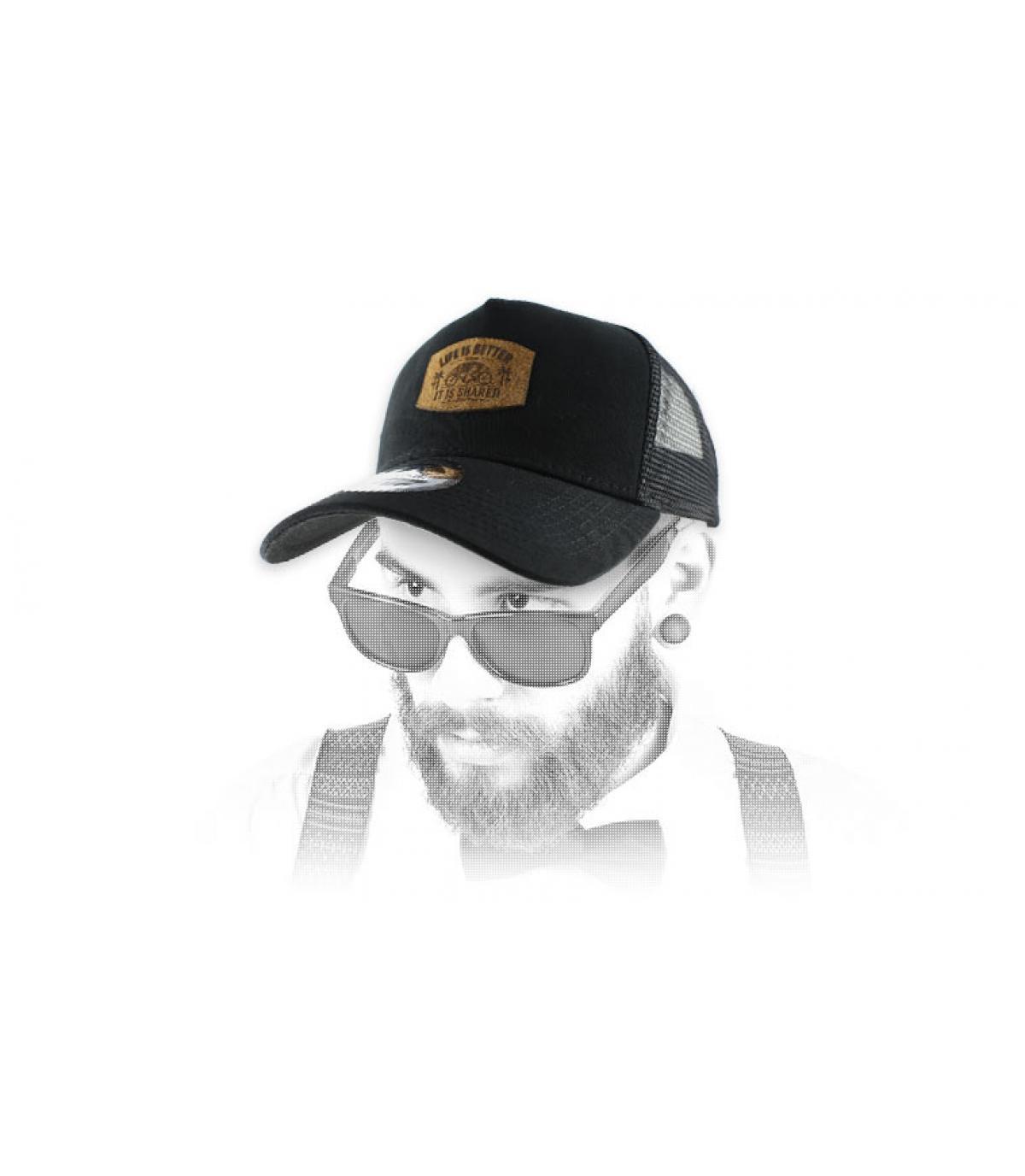 black tandem cap