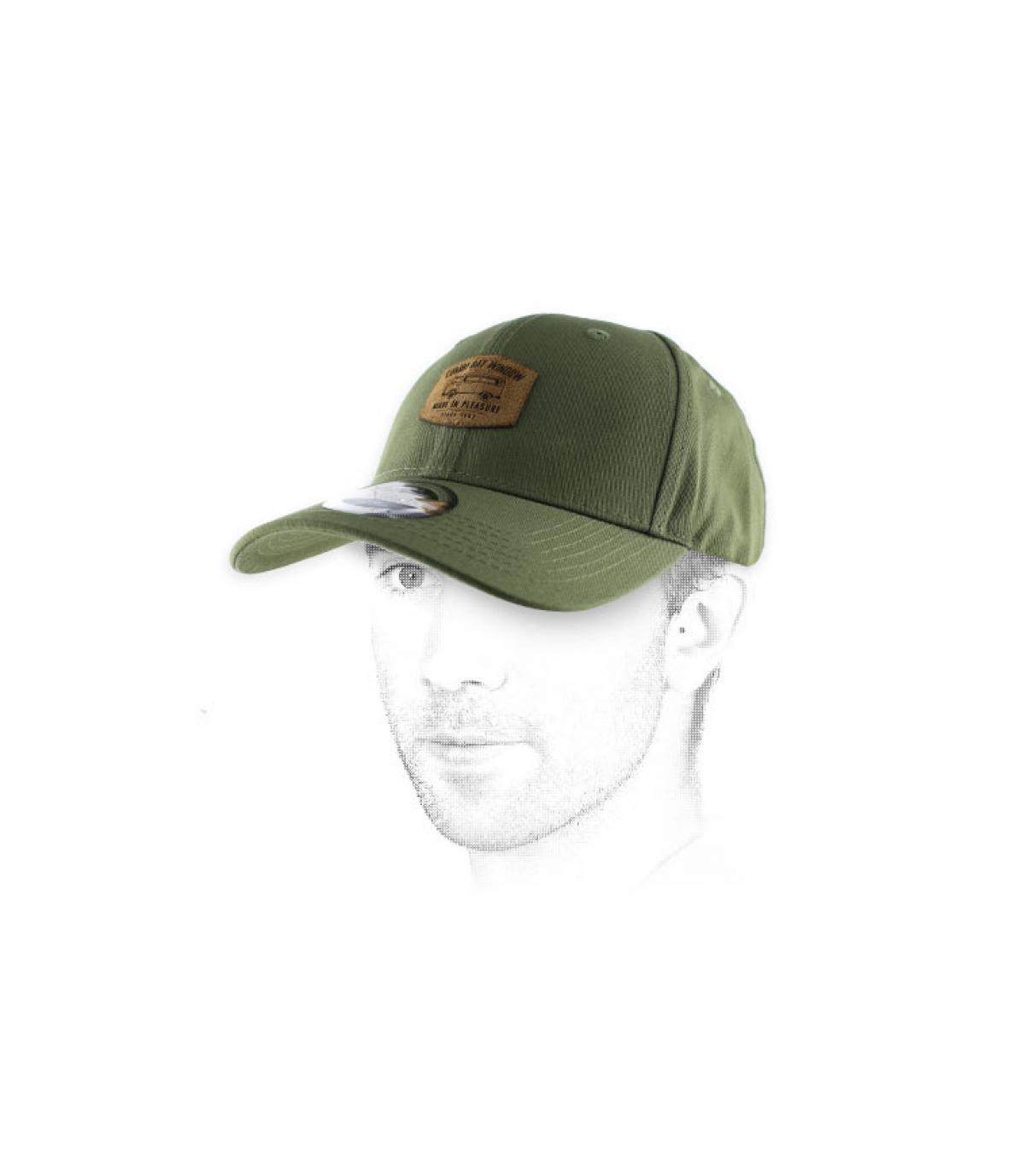 olive-green van curve cap