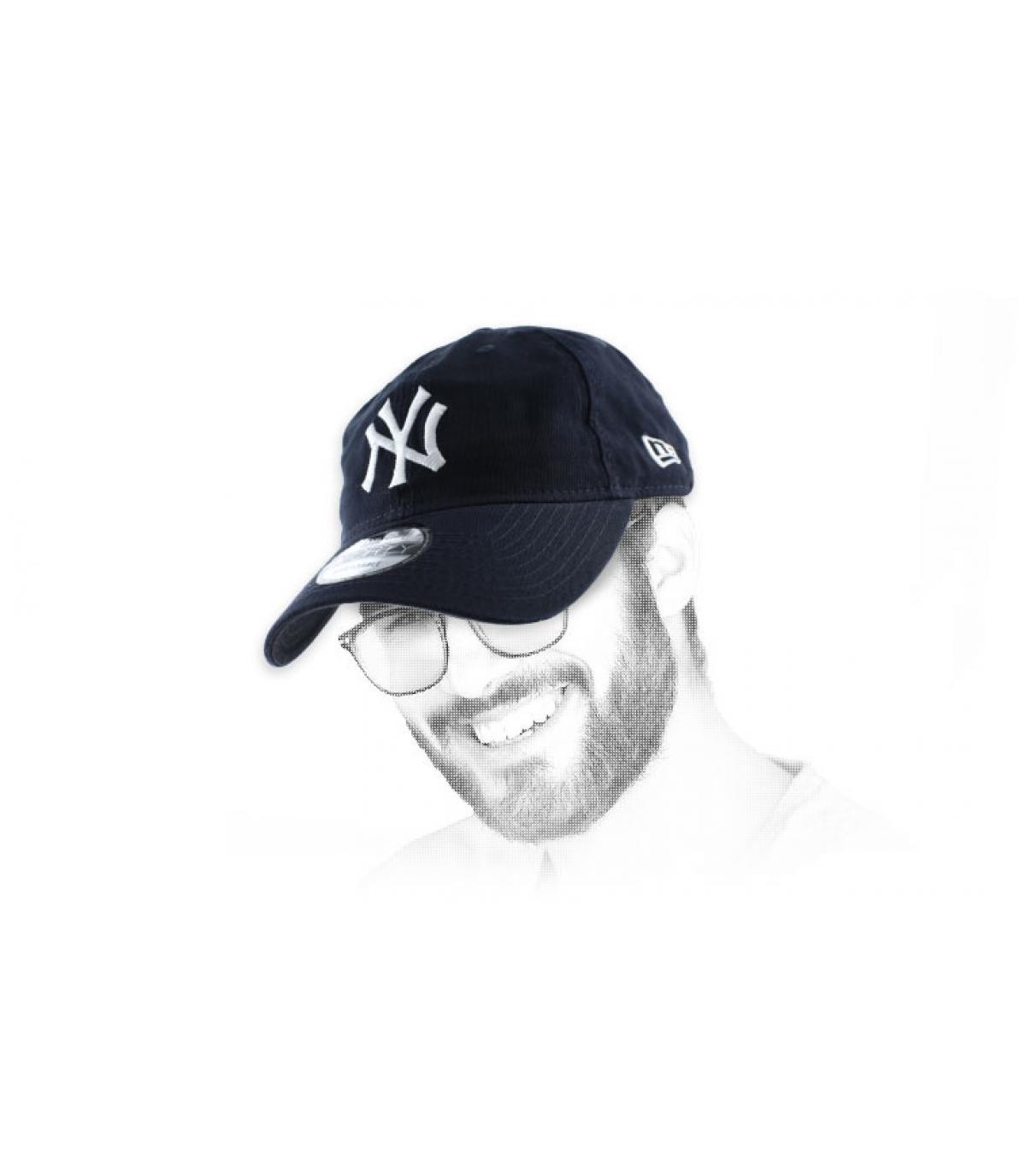 blue NY unstructured cap