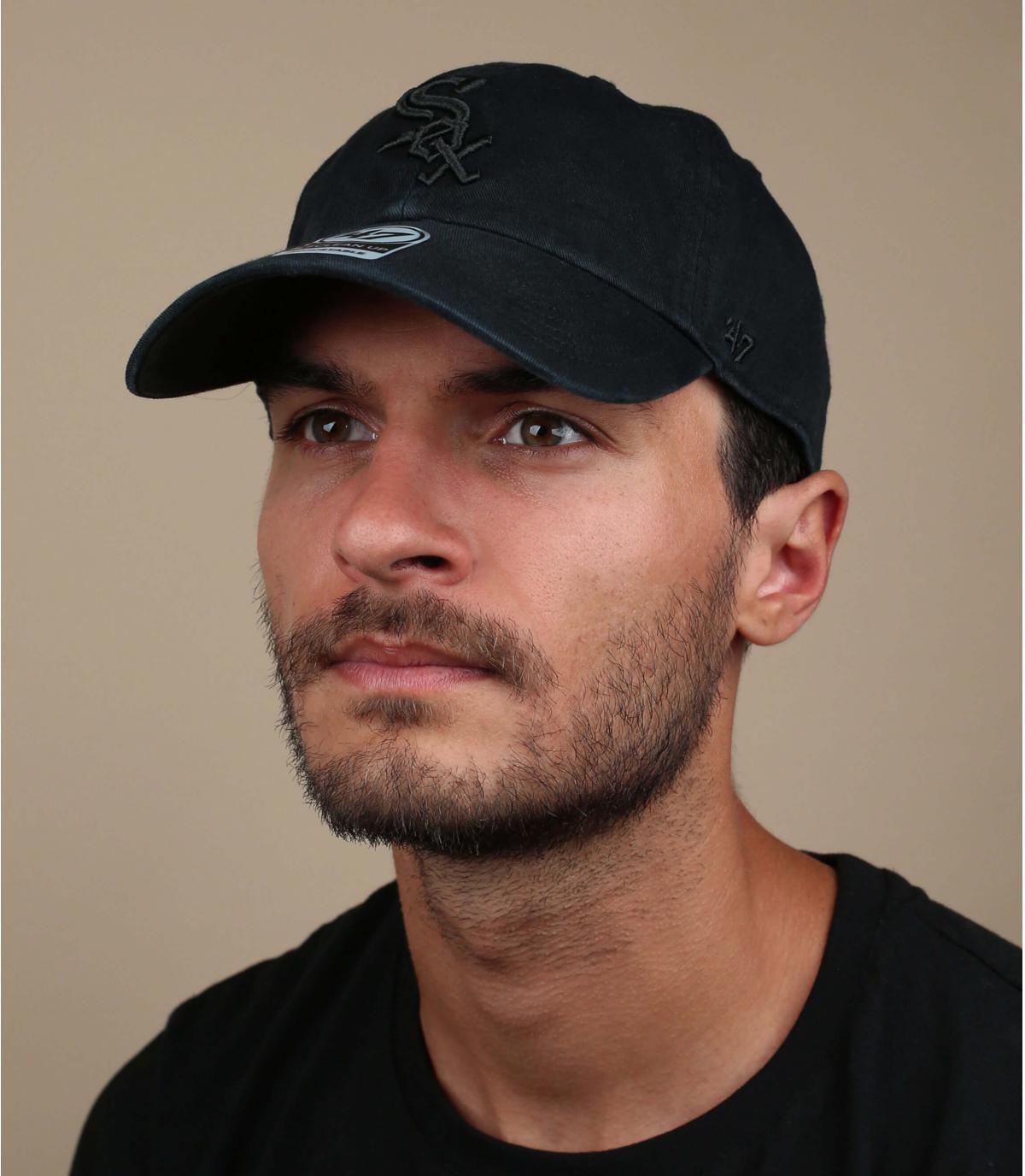 Sox black curve cap