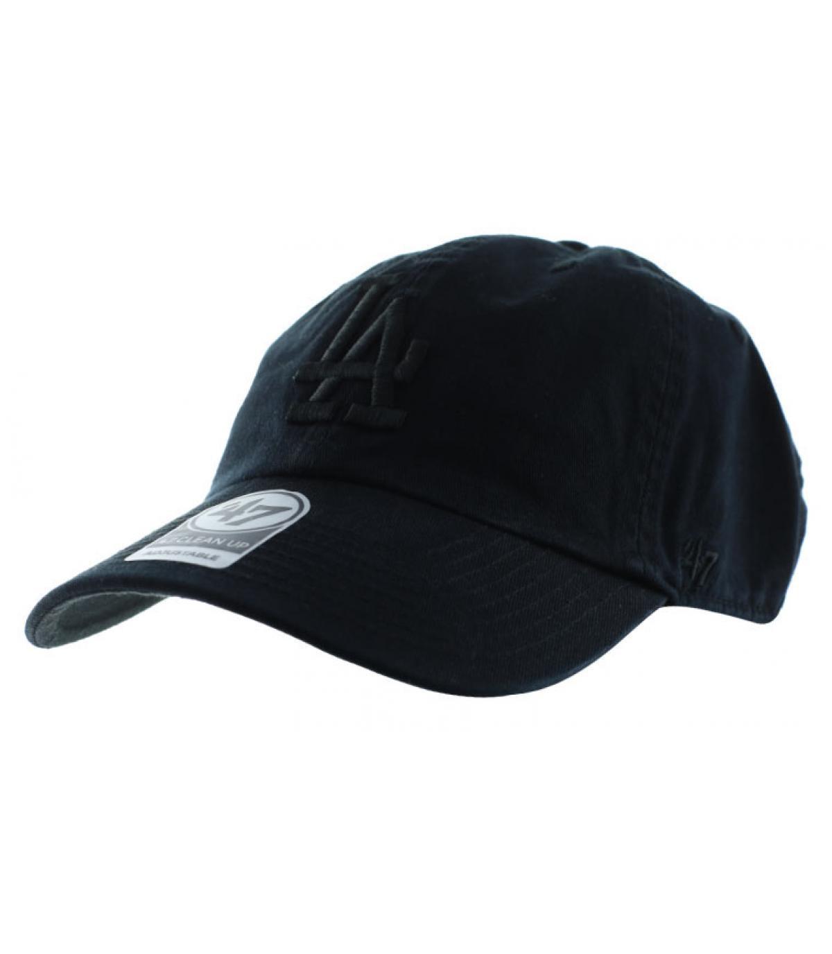 black LA curve cap