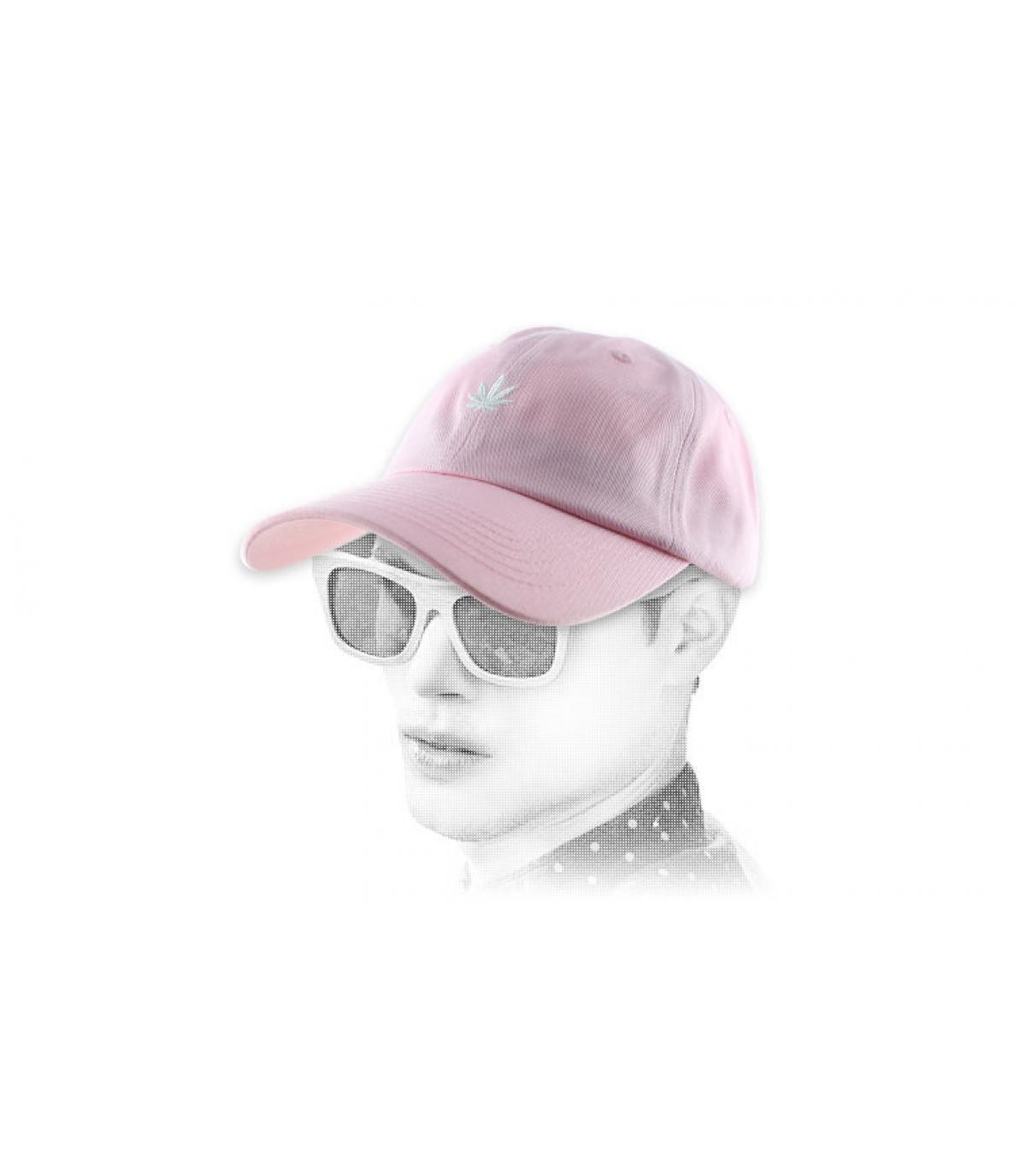 pink weed cap