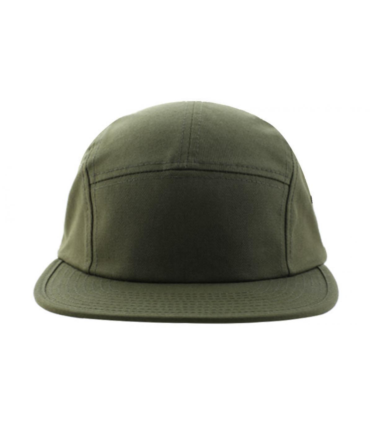 Olive 5 panel cap