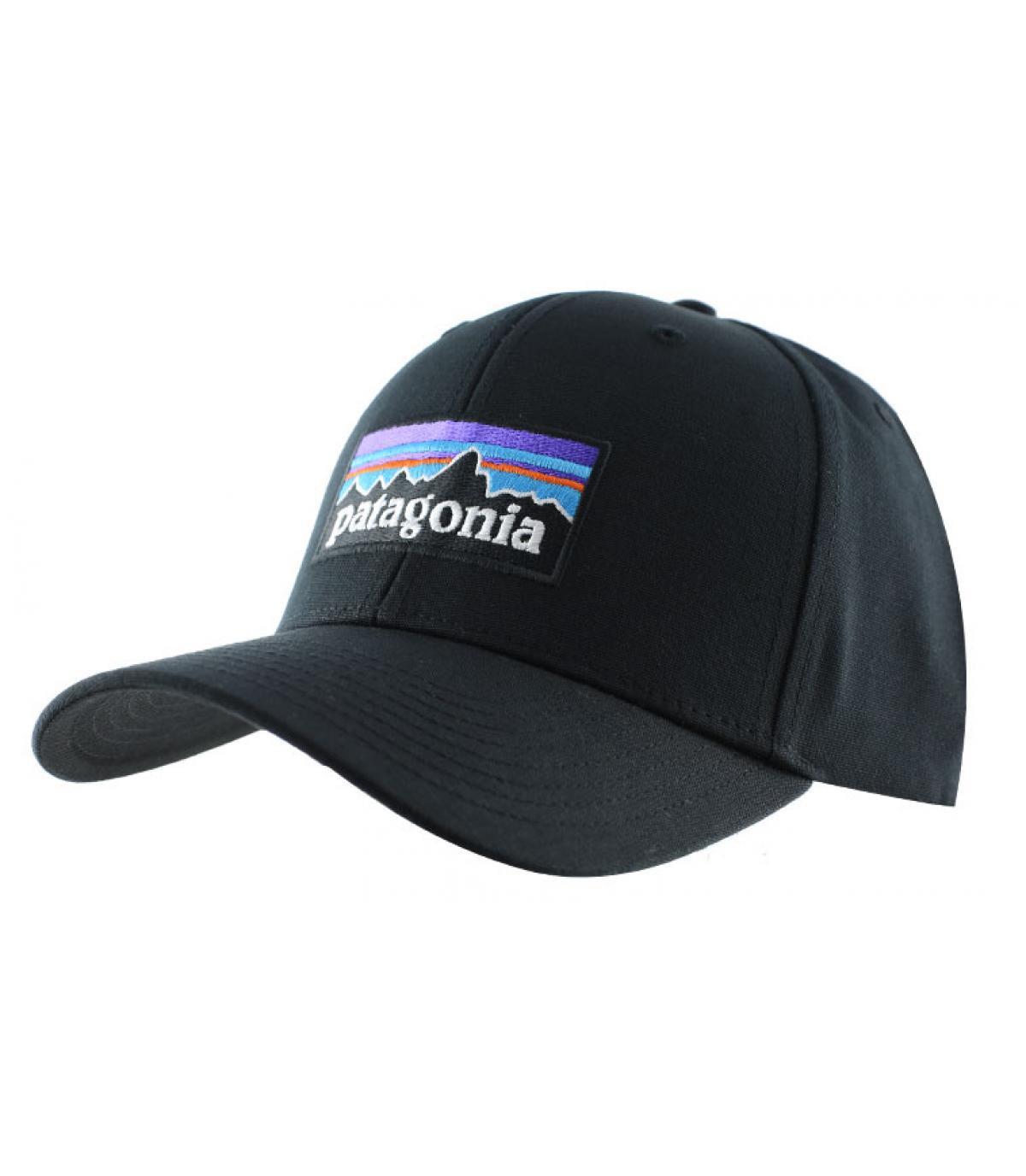 Patagonia black curve cap - P6 Logo Roger black by Patagonia. Headict d831e3579d1
