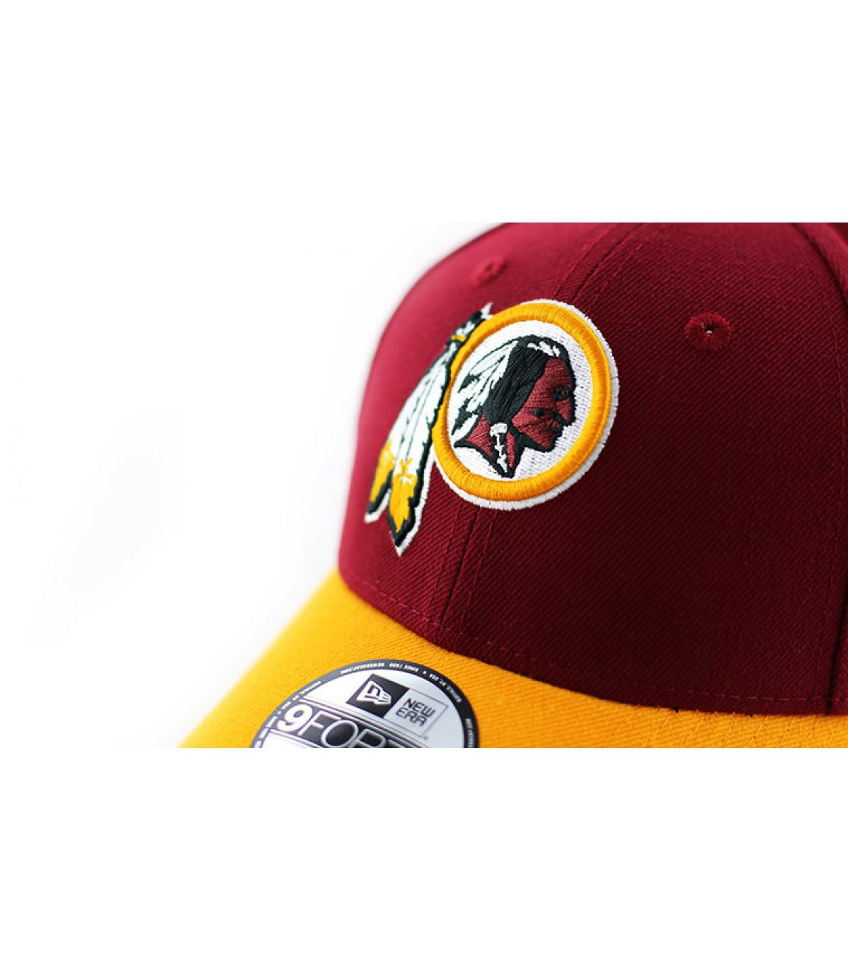 1ec73cd3 yellow and red Redskins curve cap - NFL The League Redskins Team by ...