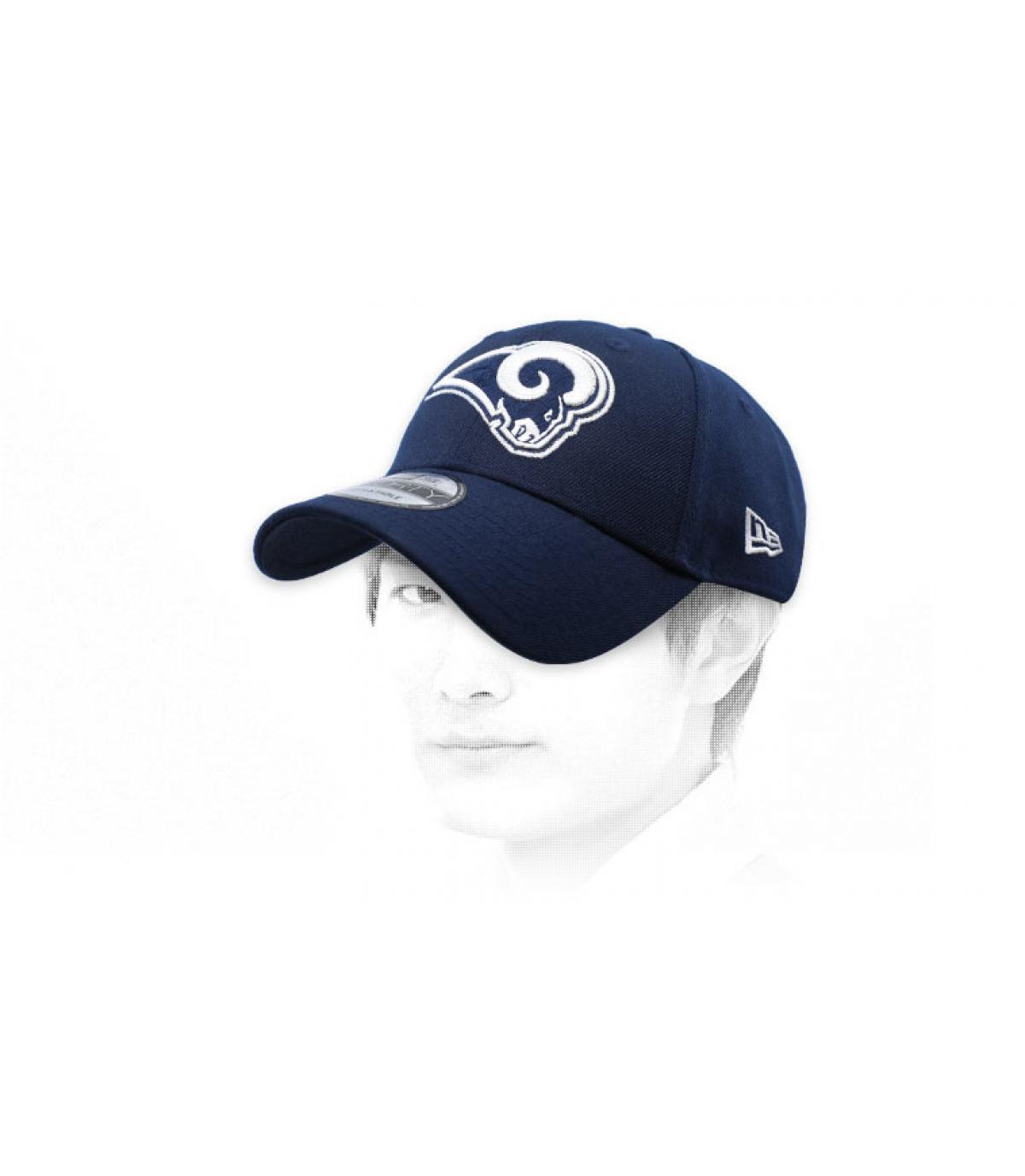 blue Rams curve cap