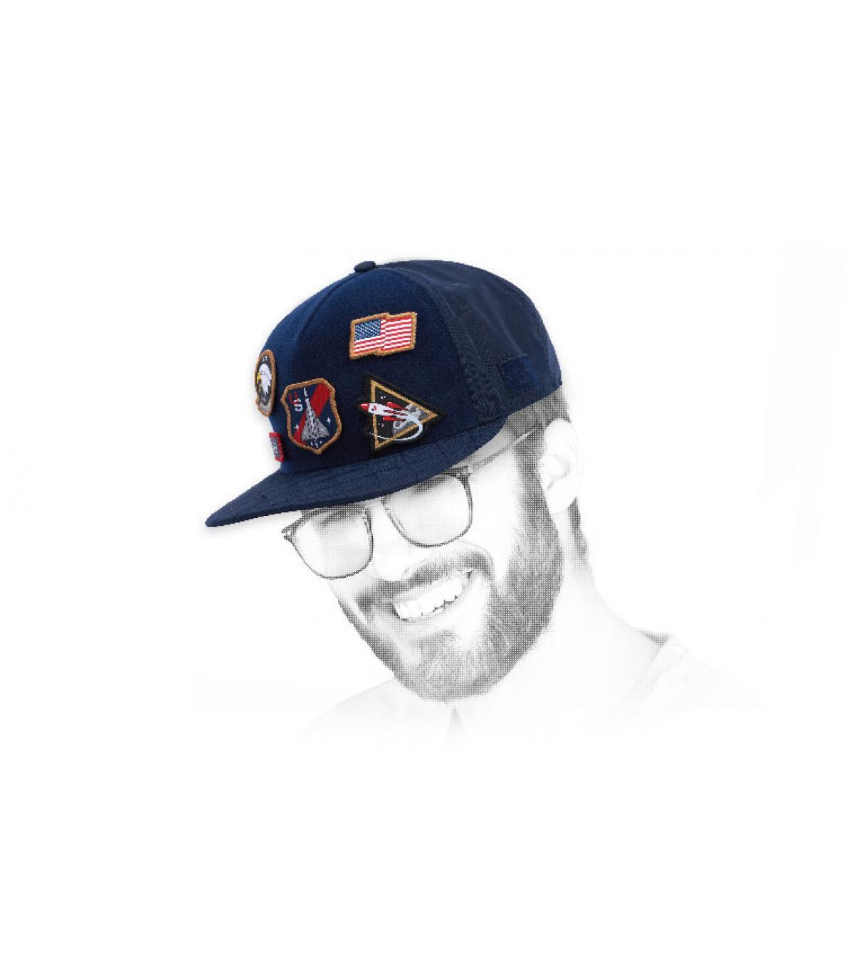 Cayler blue patches cap
