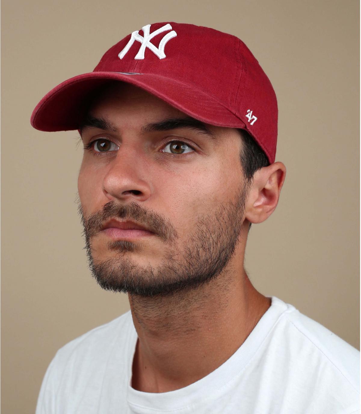 red NY curve cap