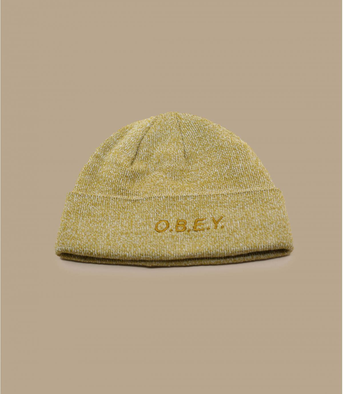 beige Obey beanie.