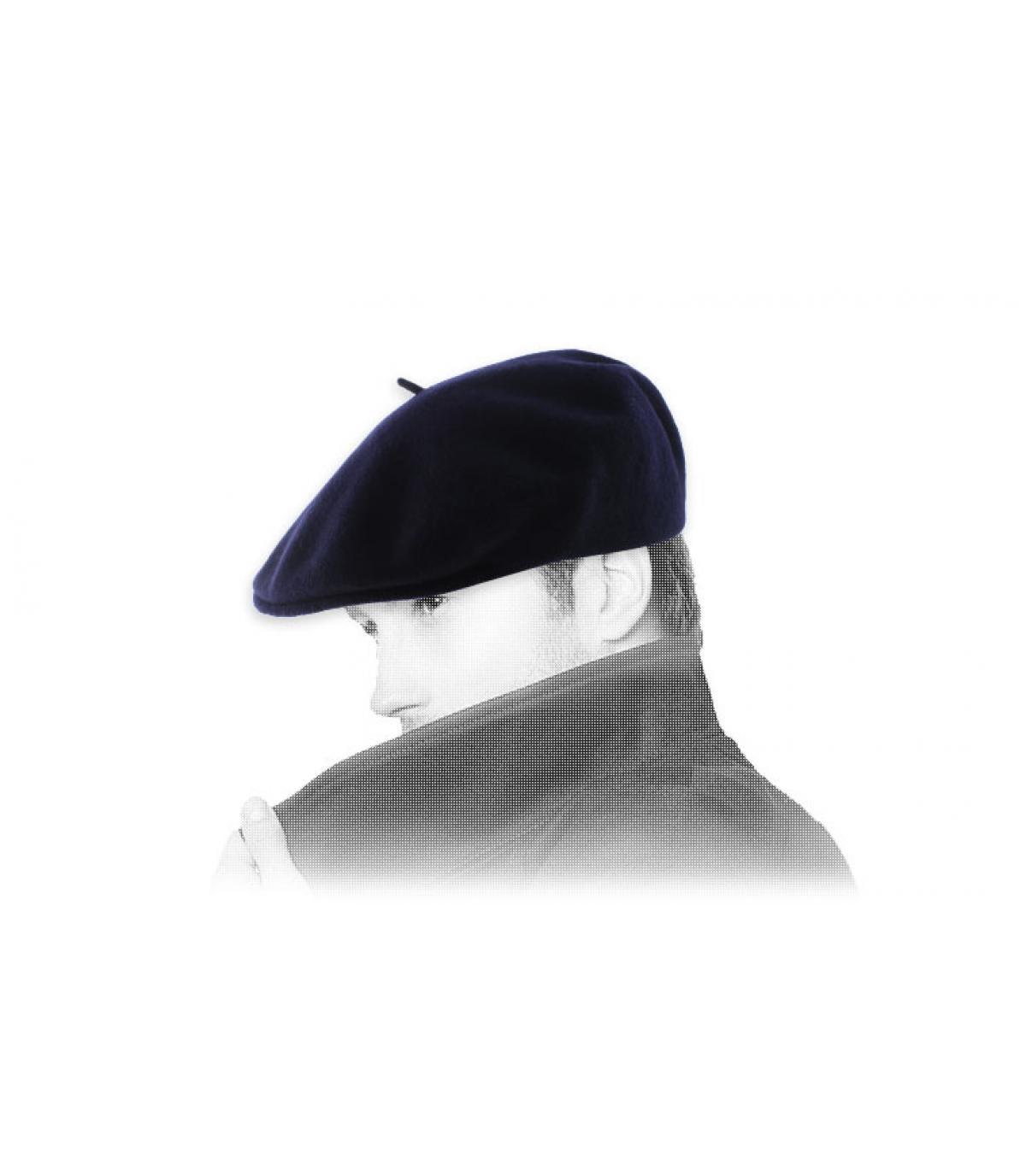 navy duckbill cap Laulhère