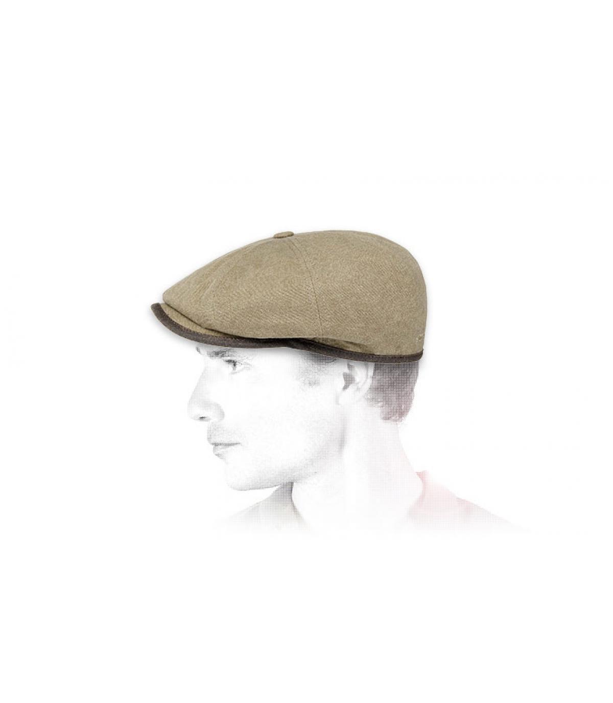 Stetson newsboy cap beige