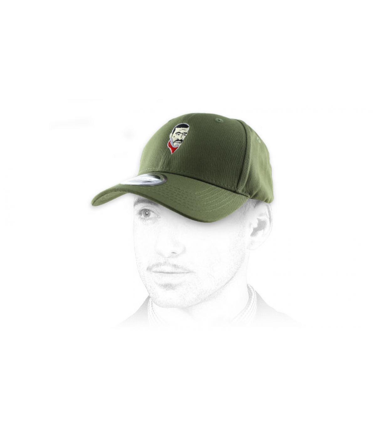 green Negan curve cap
