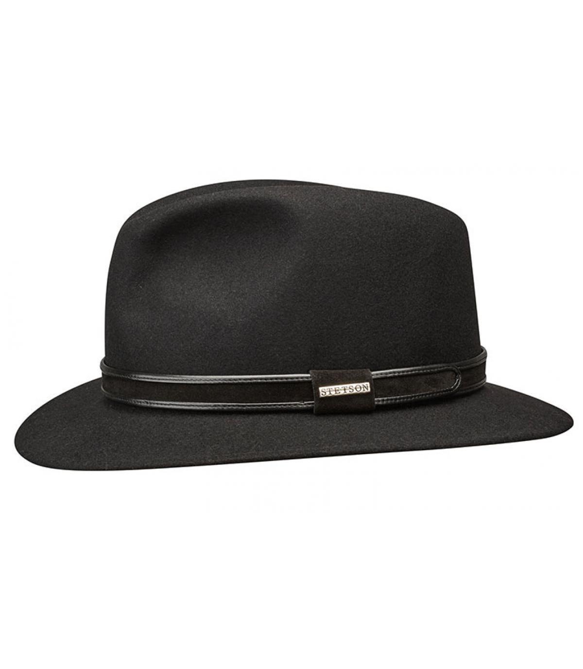 black fedora felt Stetson - Traveller San Diego Furfelt black by ... cc69bb4a87b