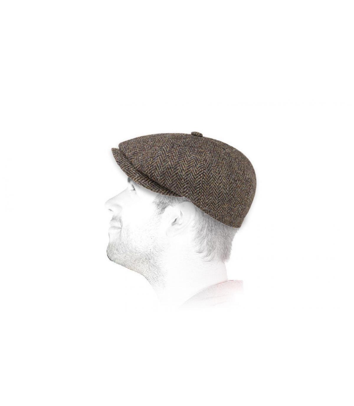 newsboy cap tweed Stetson