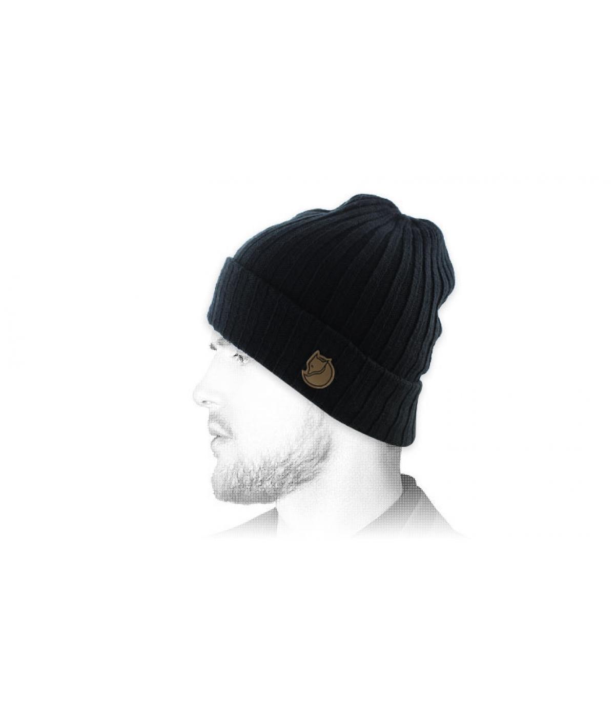 black cuffed beanie Fjällräven