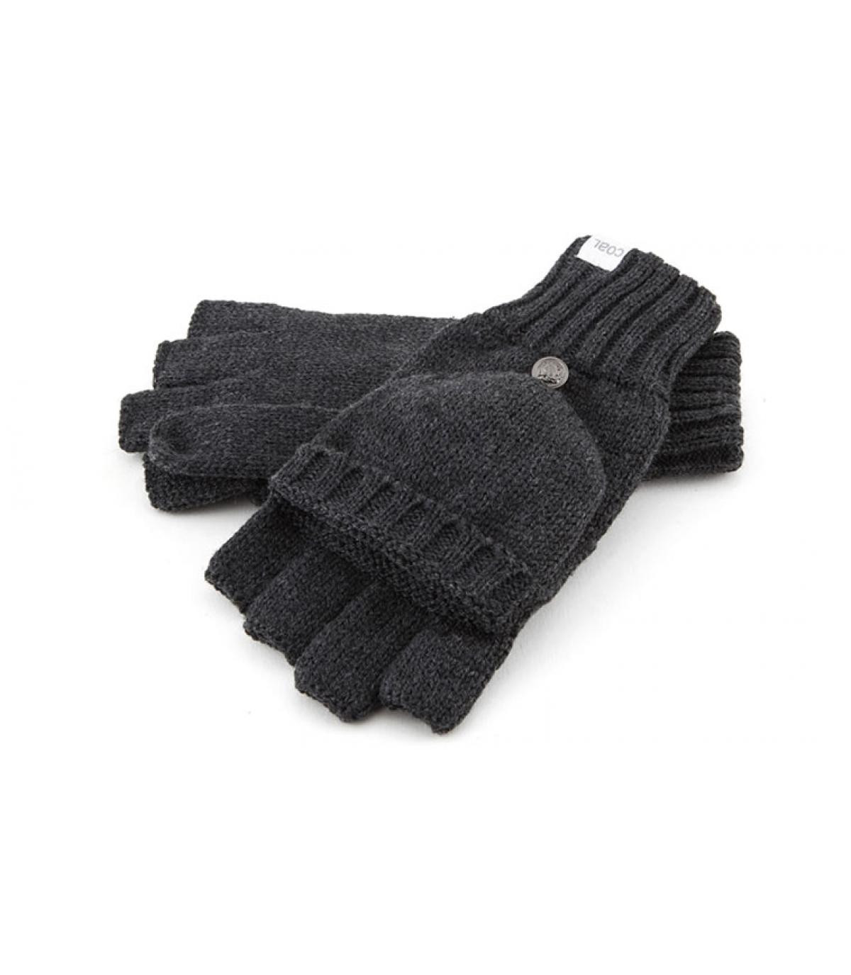 Gray mitten gloves