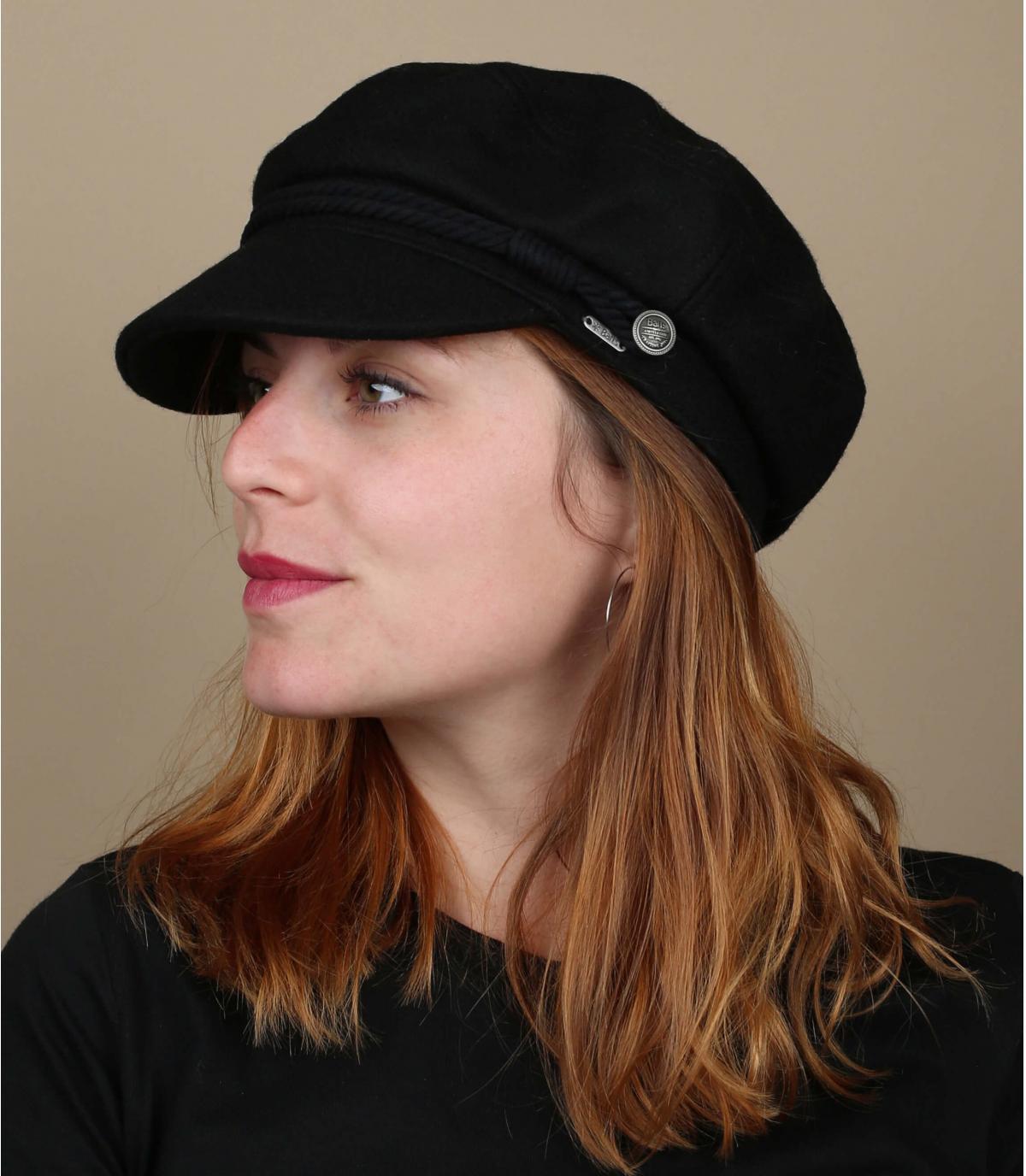 black seaman cap