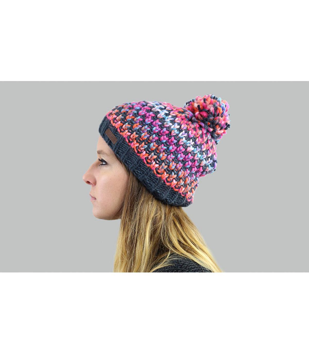multicoloured pompom beanie Barts