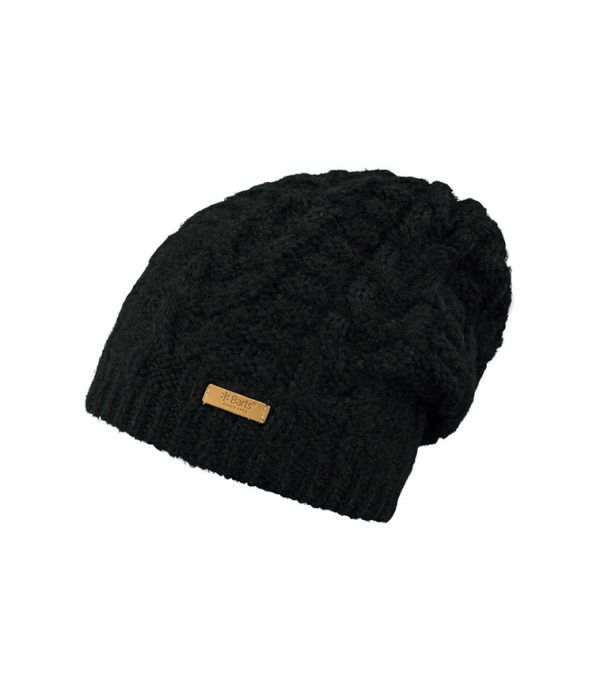 02a79bf26a7 black long cable knit beanie - Anemone Beanie black by Barts. Headict