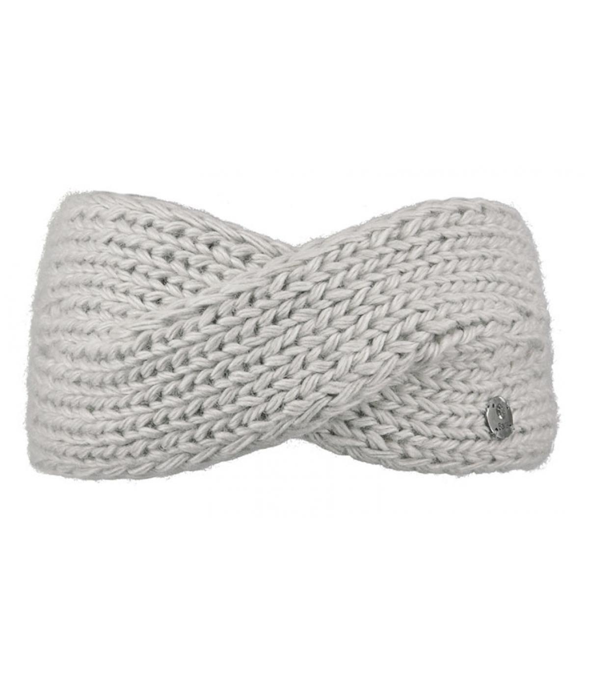 grey twisted headband wool yogi headband oyster by barts headict