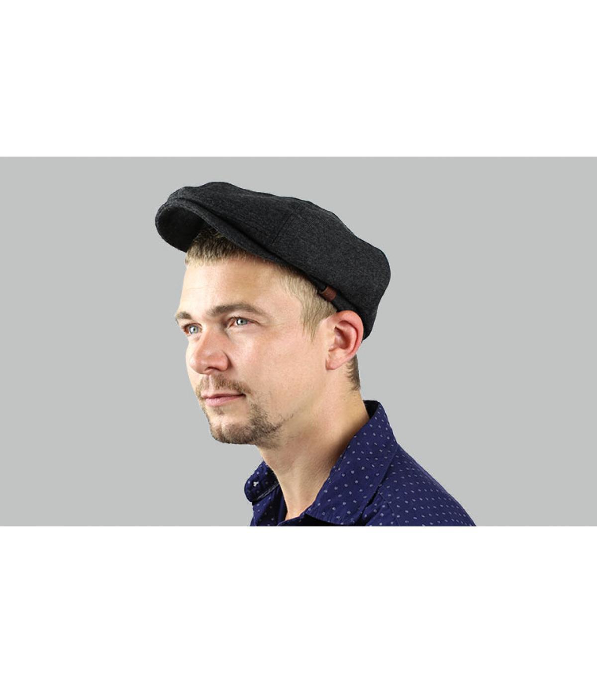 Barts grey newsboy cap