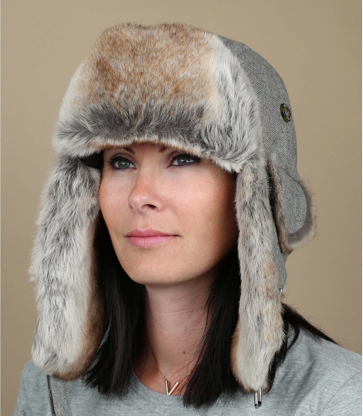 Gray barts trapper hat