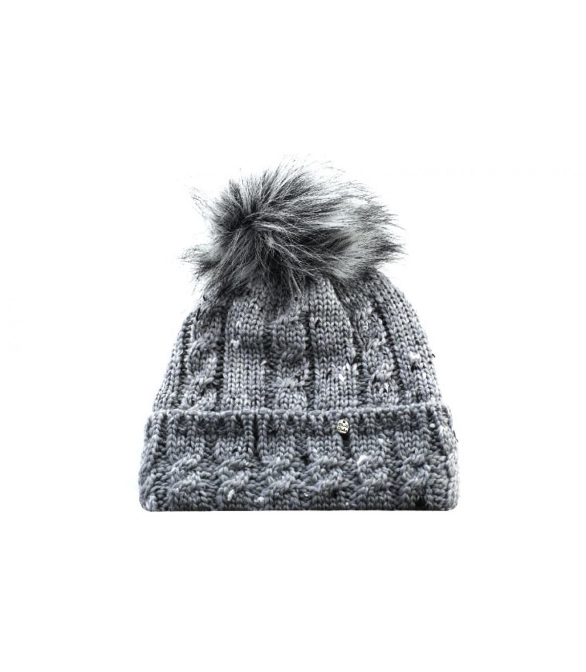 9edc2f2e4d3026 grey beanie pompom - Roxanne Hat dark grey by Chillouts. Headict